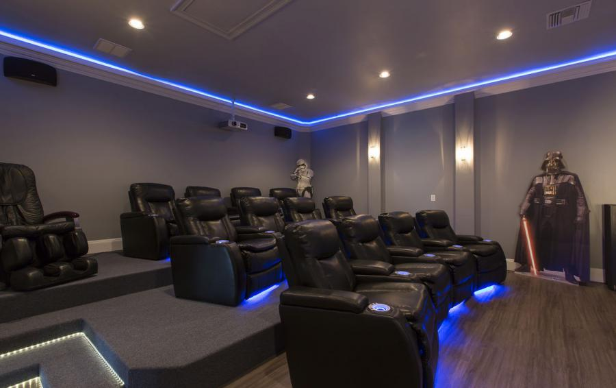 Theater Seating - Reunion Retreat Admiral 7 Bedroom Luxury Reunion Disney Area Vacation Home - Homes4uu