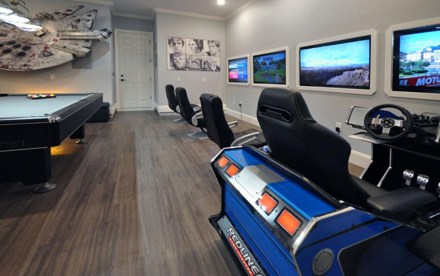 Themed Game Room - Reunion Retreat Admiral 7 Bedroom Luxury Reunion Disney Area Vacation Home - Homes4uu