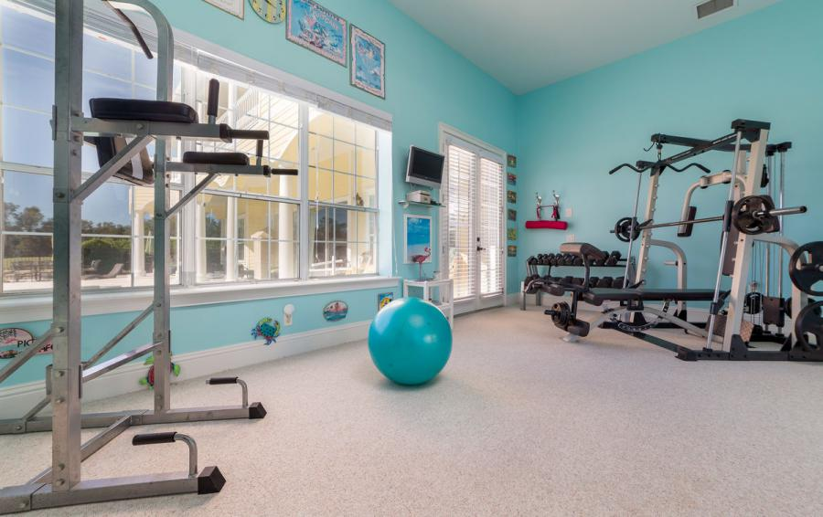 Work Out Room - Reunion Retreat Admiral 7 Bedroom Luxury Reunion Disney Area Vacation Home - Homes4uu