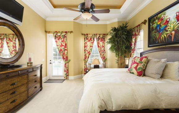 Reunion Retreat Admiral 7 Bedroom Luxury Reunion Disney Area Vacation Home Luxurious Master Bedroom