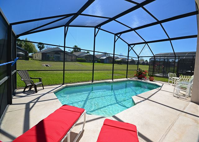 Pool View - Channel - 4 Bedroom Orlando Vacation Home - Homes4uu