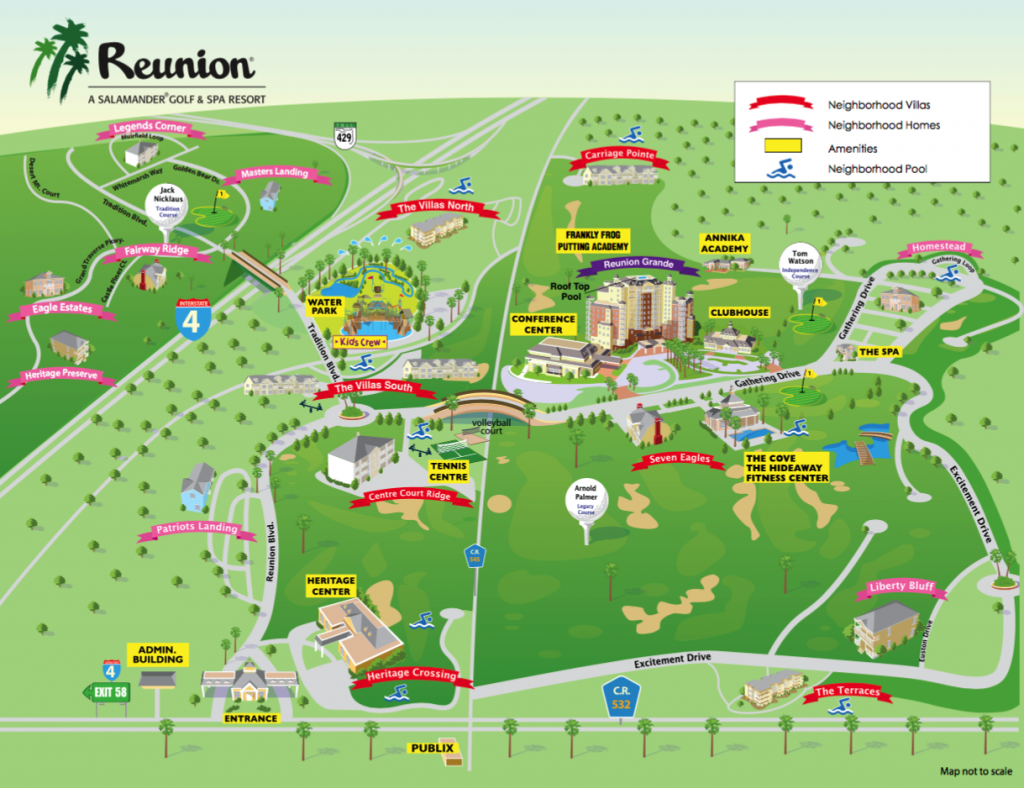 Reunion Resort Map