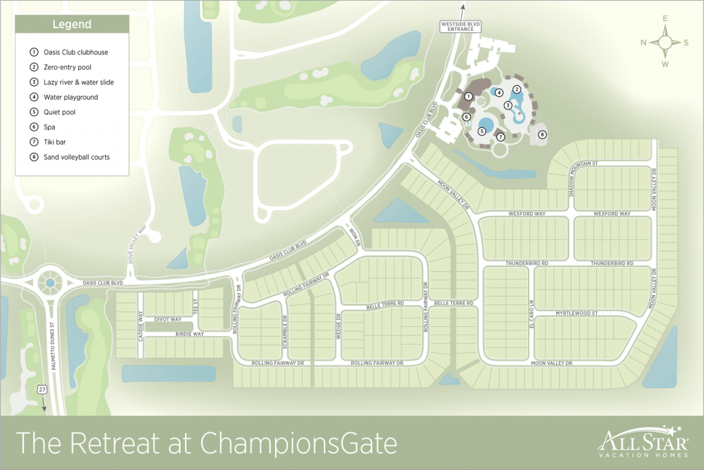 Champions Gate Resort Map
