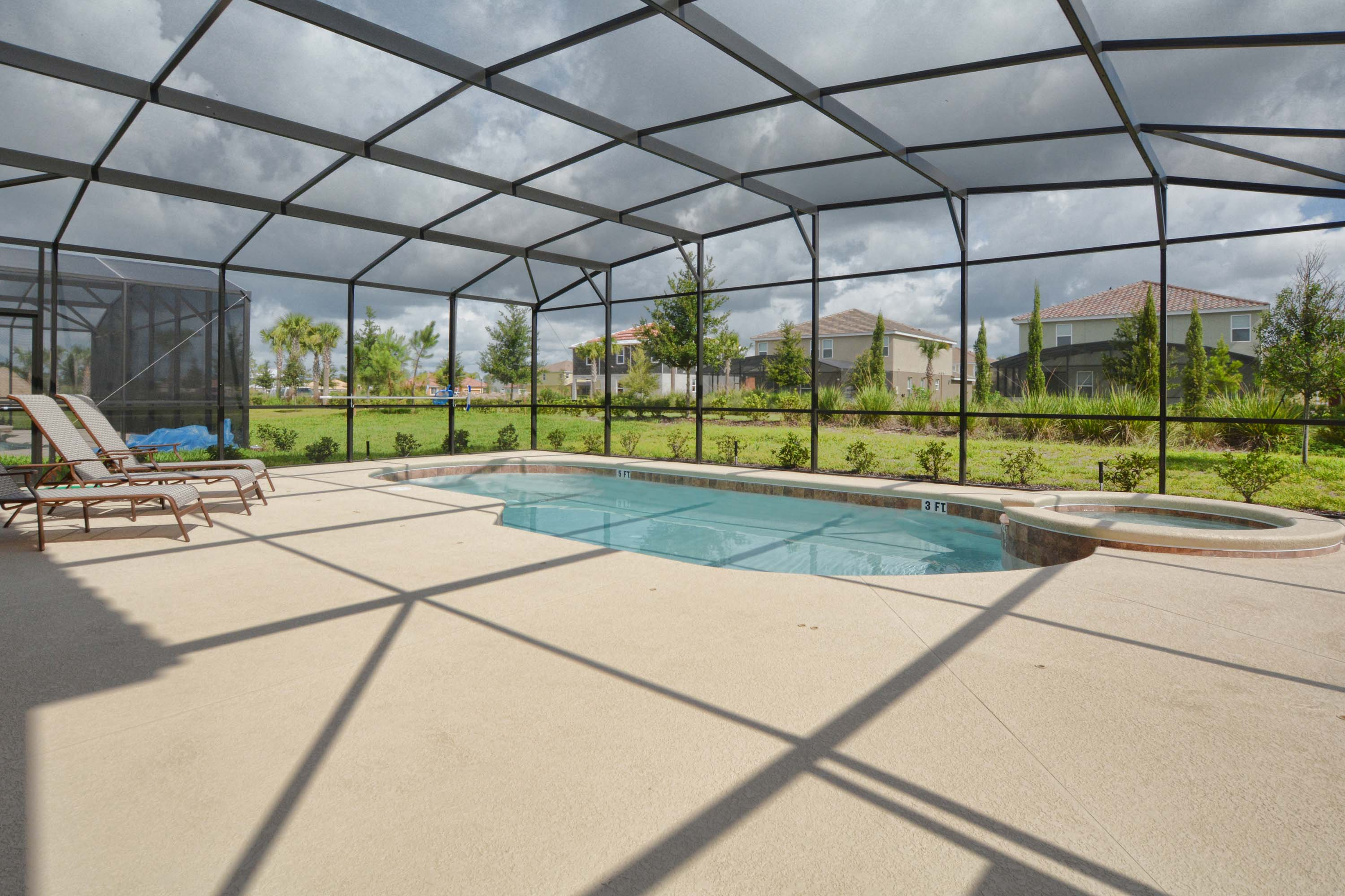 Private Pool and Pool Deck - Night Breeze - 6 Bedroom Solterra Resort Vacation Home - Home4uu