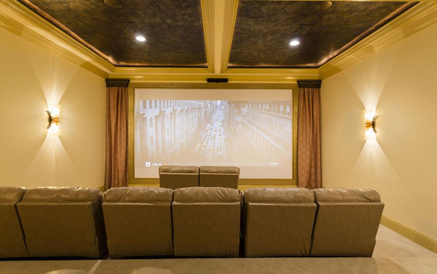 Home Theater Screen View - Flannel - 9 Bedroom Reunion Resort Vacation Mansion - Homes4uu