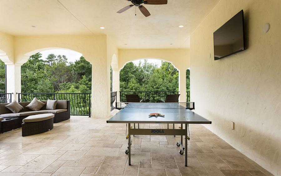 Patio Balcony- With Ping-Pong Table - Flannel - 9 Bedroom Reunion Resort Vacation Mansion - Homes4uu