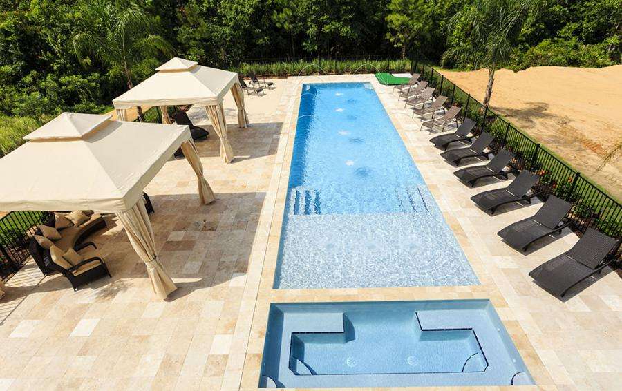 Pool-5- View from upper deck - Flannel - 9 Bedroom Reunion Resort Vacation Mansion - Homes4uu