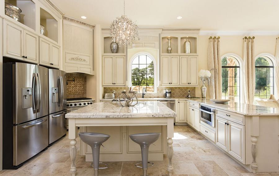 kitchen with Island - Two Professional Refridgerators - Flannel - 9 Bedroom Reunion Resort Vacation Mansion - Homes4uu