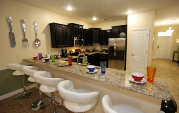 Celeste - 9 Bedroom Orlando Vacation Home - Homes4uu - Breakfast Bar