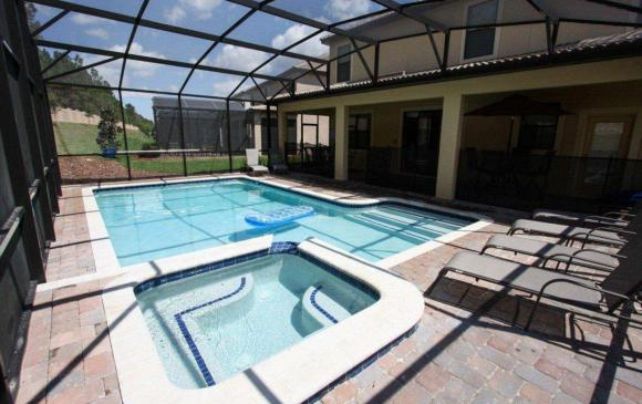 Celeste - 9 Bedroom Orlando Vacation Home - Homes4uu - Pool and In Ground Spa Photo