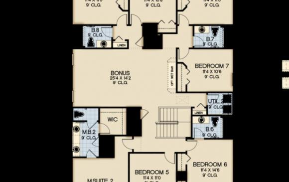 Hurley - 10 Bedroom Solterra Resort Vacation Home Floor Plan