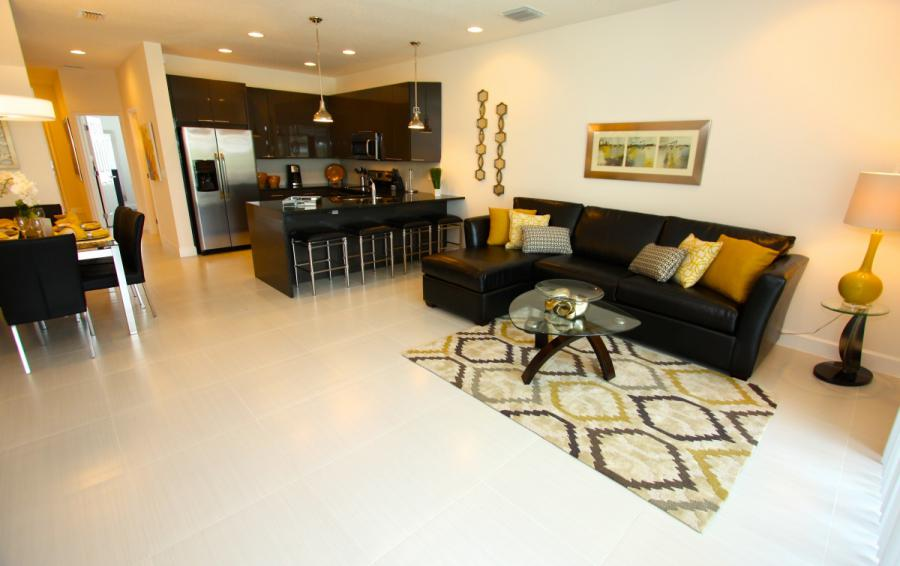 Great Room Entertainment Area - Swift Sails 3 Bedroom Modern Townhouse - Dream Resort - Homes4uu