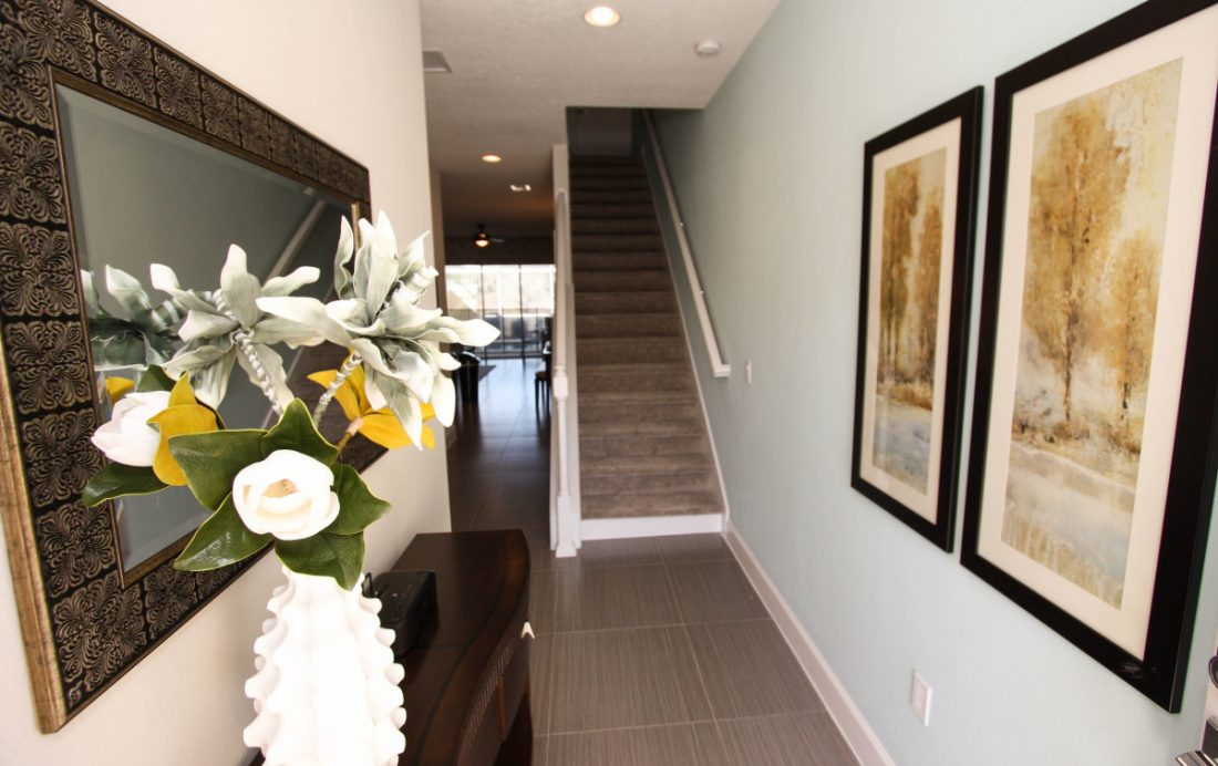 Front Hall and Stairway - Swift Sails II 3 Bed Vacation Townhouse - Dream Resort - Homes4uu