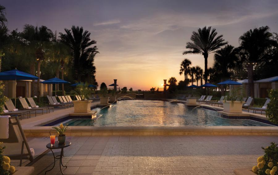 Championsgate Formal Pool at Sunset