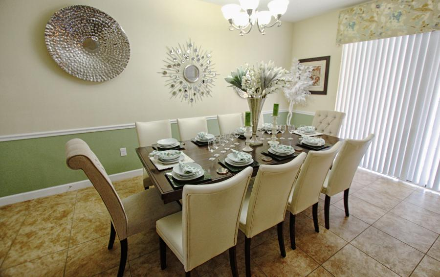 Dining Area - Celeste 9 Bedroom Orlando Vacation Home - Championsgate Resort - Homes4uu
