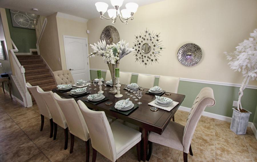 Dining Area with seating for 10 - Celeste 9 Bedroom Orlando Vacation Home - Championsgate Resort - Homes4uu