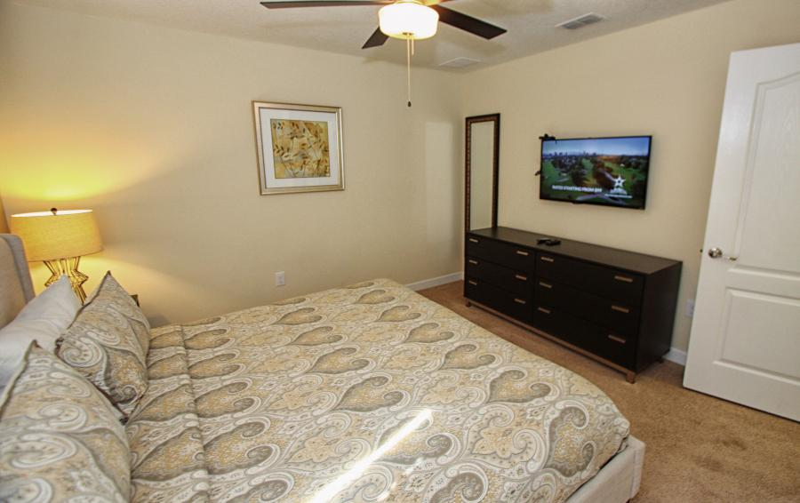 Bedroom 4 View 2 - Celeste 9 Bedroom Orlando Vacation Home - Championsgate Resort - Homes4uu
