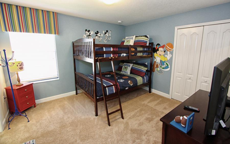 Mickey Mouse Themed Bedroom 6 - Celeste 9 Bedroom Orlando Vacation Home - Championsgate Resort - Homes4uu