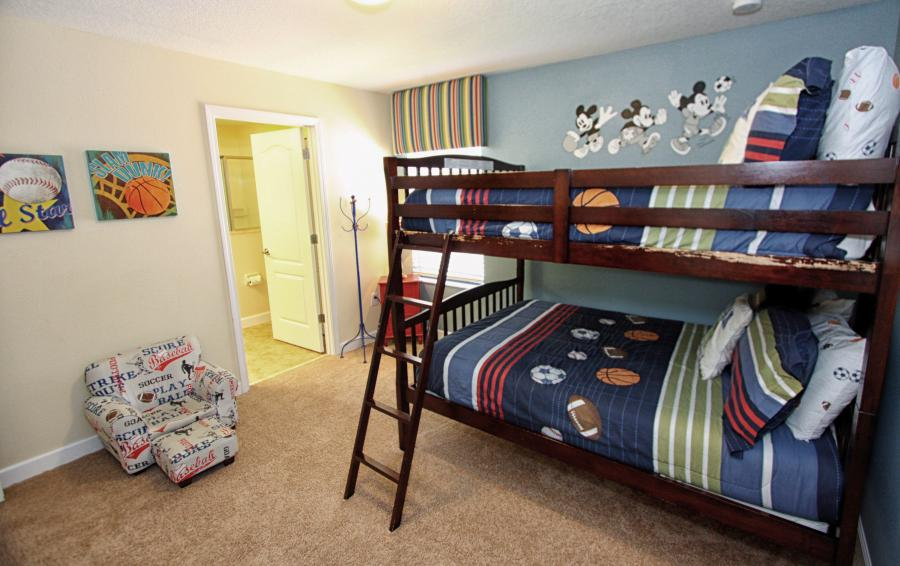 Mickey Mouse Themed Bedroom 6 View 2 - Celeste 9 Bedroom Orlando Vacation Home - Championsgate Resort - Homes4uu