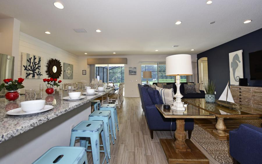 Kitchen and Dining Area - Caspian - 10 Bedroom Solterra Resort Vacation Home - Homes4uu