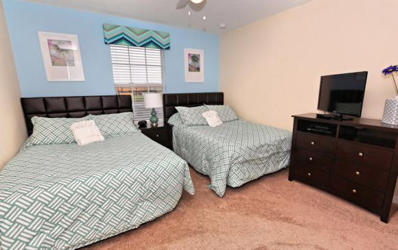 Bedroom 2 - 4 Bedroom Paradise Palms Townhome - Minnie's Cottage - Homes4uu