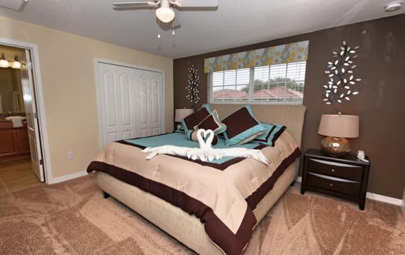 Bedroom 3a - 4 Bedroom Paradise Palms Townhome - Minnie's Cottage - Homes4uu