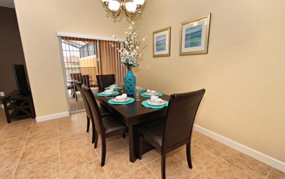 Dining Room 1 - 4 Bedroom Paradise Palms Townhome - Minnie's Cottage - Homes4uu