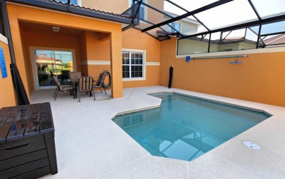 Private Pool 1 - 4 Bedroom Paradise Palms Townhome - Minnie's Cottage - Homes4uu