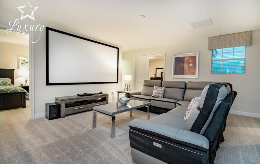 Game and Theater Room - Baltic - 10 Bedroom Orlando Vacation Home - Homes4uu