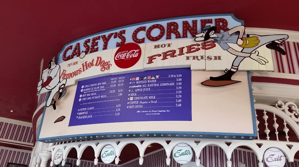 Fourth of July in the Magic Kingdom Casey's Corner Sign