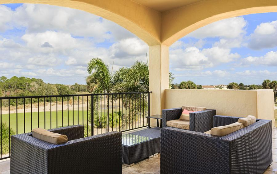 Balcony Overlooking the Golf Cource - Prince Royal - 11 Bedroom Vacation Home - Homes4uu