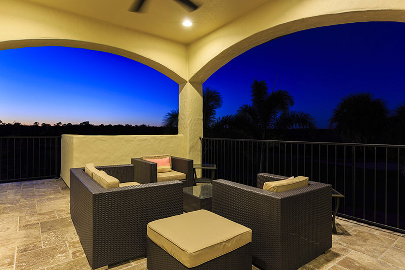 Balcony Twilight-1- - Prince Royale - 11 Bedroom Vacation Home - Homes4uu