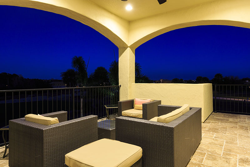 Balcony Twilight-2- - Prince Royale - 11 Bedroom Vacation Home - Homes4uu