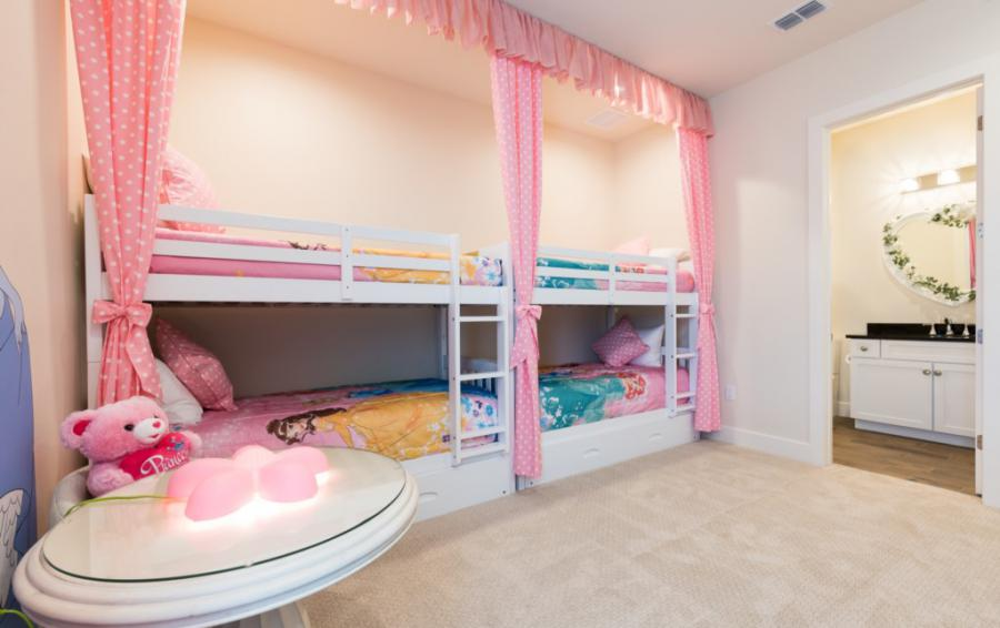 Bedroom - 10 - Princesses Bunk beds for four - Bering Sea - 11 Bedroom Vacation Mansion - Homes4uu