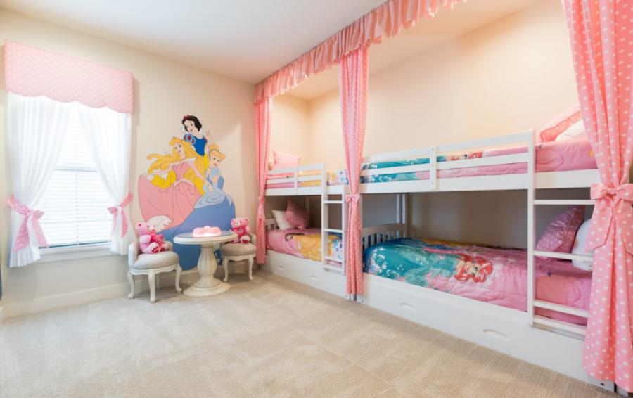 Bedroom - 10 - Princesses BunkBeds with miniture table and chairs - Bering Sea - 11 Bedroom Vacation Mansion - Homes4uu