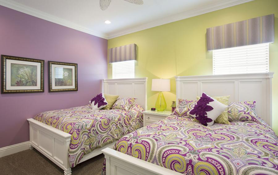 Bedroom 11-Two Queen Beds,Teen Girl Zone - Prince Royal - 11 Bedroom Vacation Home - Homes4uu