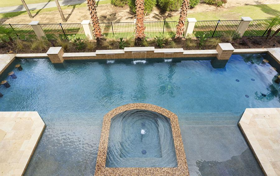 Pool-4-View from above - Prince Royal - 11 Bedroom Vacation Home - Homes4uu