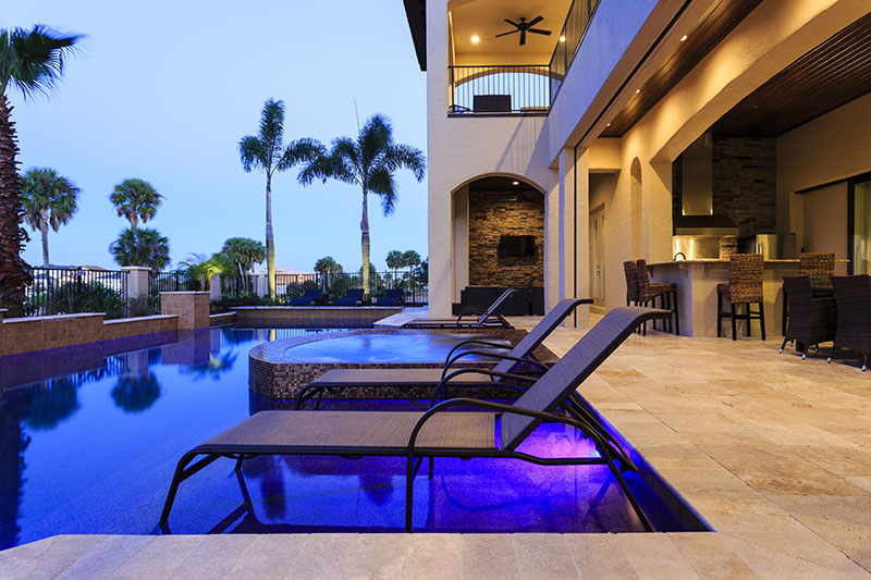 Pool Twilight-1- - Prince Royale - 11 Bedroom Vacation Home - Homes4uu