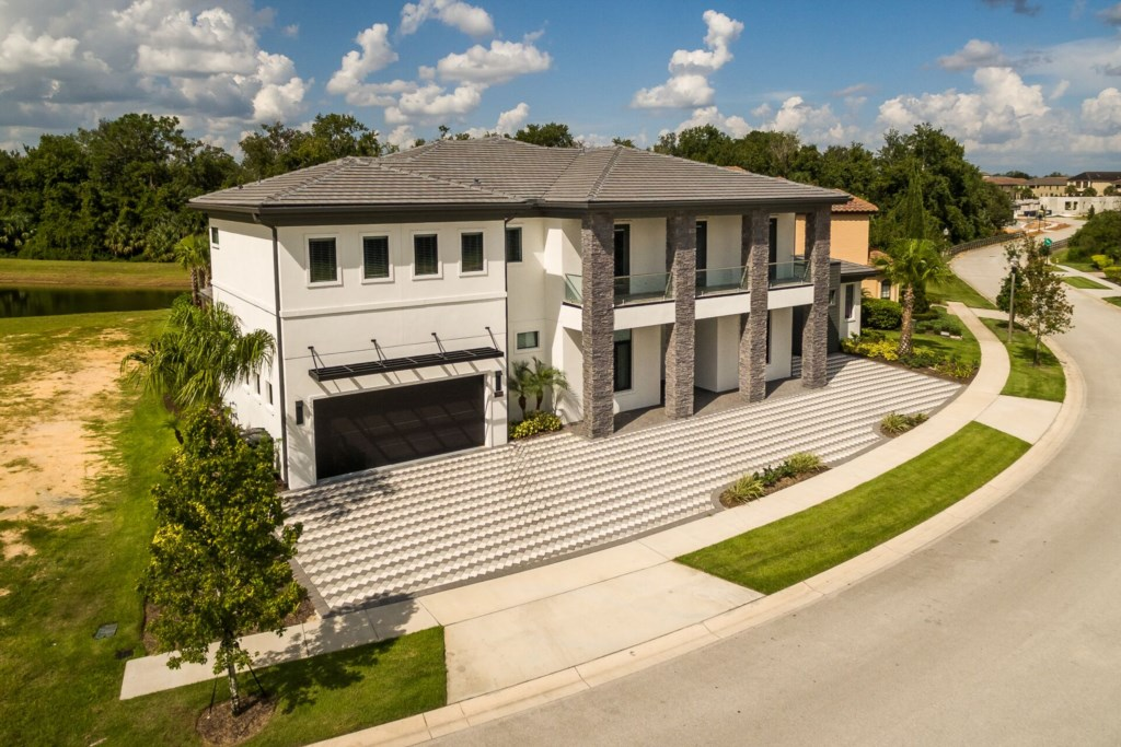 Aerial View of the Front - Hopesail - 10 Bedroom Reunion Resort Vacation Home - Homes4uu