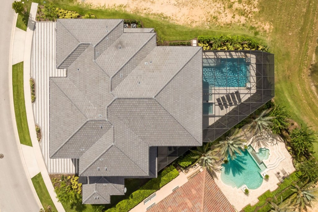 Aerial View Directly Above - Hopesail - 10 Bedroom Reunion Resort Vacation Home - Homes4uu