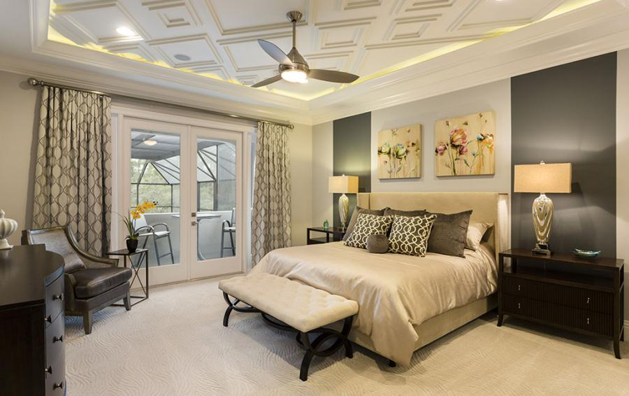 Bedroom - 5 -King Sized Bed - Sea Chest - 7 Bedroom Manor with Private Pool - Homes4uu