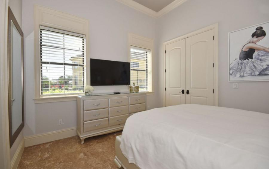 Bedroom - 5 - Queen Sized Bed with Smart TV - Swift Sailing - 6 Bedroom Custom Luxury Vacation Home - Homes4uu