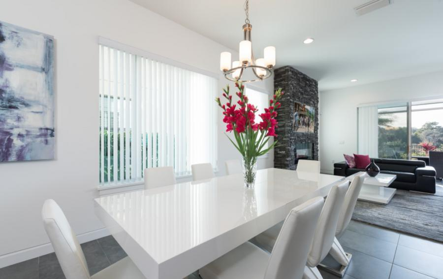 Dining Room - On The Wind - 5 Bedroom Contemporary Luxury Orlando Area Vacation Home - Homes4uu