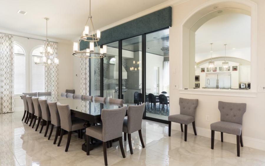 Dining Room with Extra Chairs - Steamboat Willie's Castle - 8 Bedroom Disney Themed Vacation Home - Homes4uu