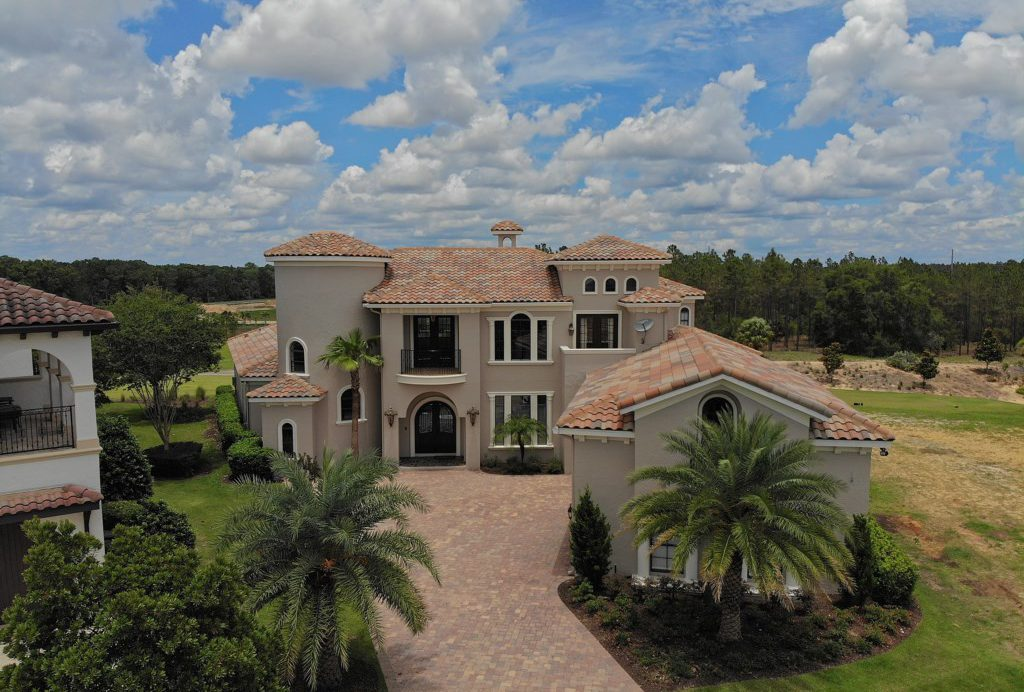 Drone View of Driveway Entrance - Swift Sailing - 6 Bedroom Custom Luxury Vacation Home - Homes4uu