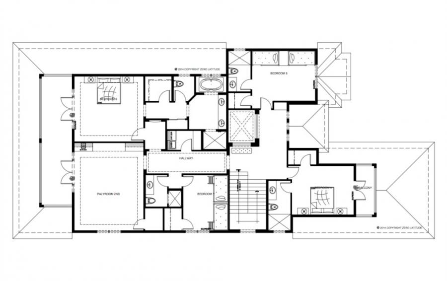 Floor Plan Upper Floor- Sea Chest - 7 Bedroom Manor with Private Pool - Homes4uu