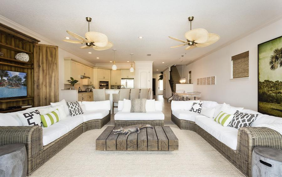 Comfy Open Plan Living Room - Cast Away - 5 Bedroom Themed Vacation Home - Homes4uu