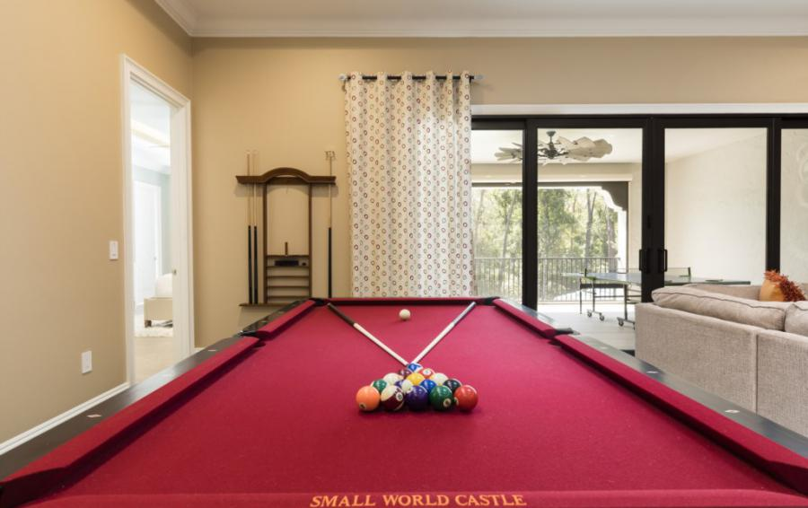 Loft- Pool Table - Steam Boat Willie's Castle - 8 Bedroom Disney Themed Vacation Home - Homes4uu