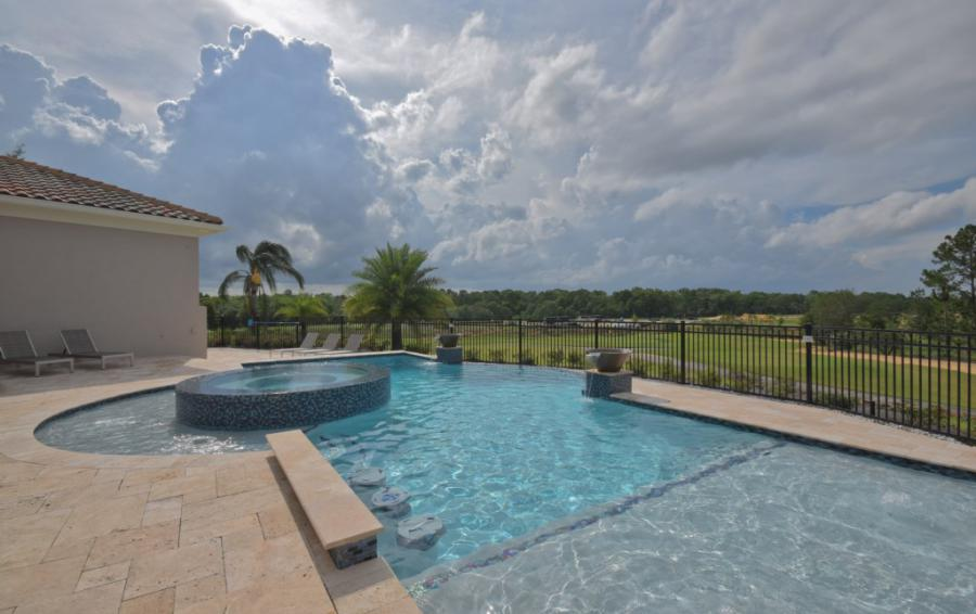 Luxury Pool with Spill Over Spa - Swift Sailing - 6 Bedroom Custom Luxury Vacation Home - Homes4uu
