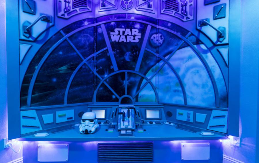 Millennium Falcon Secret Gaming Room control panel - Steam Boat Willie's Castle - 8 Bedroom Disney Themed Vacation Home - Homes4uu